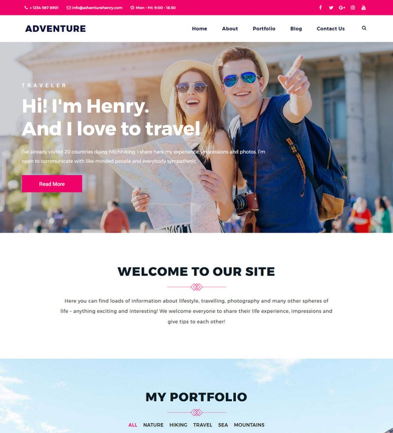 Adventure Tour and Travel Ready made WordPress Websites