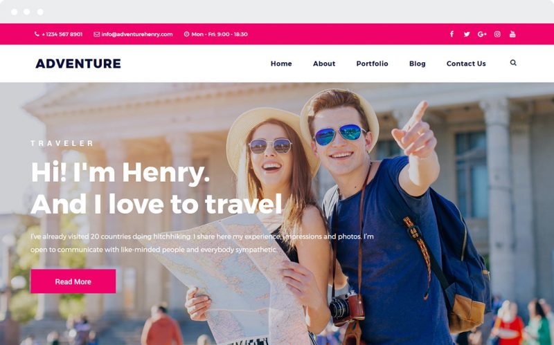 Adventure Tour and Travel Ready made WordPress Website