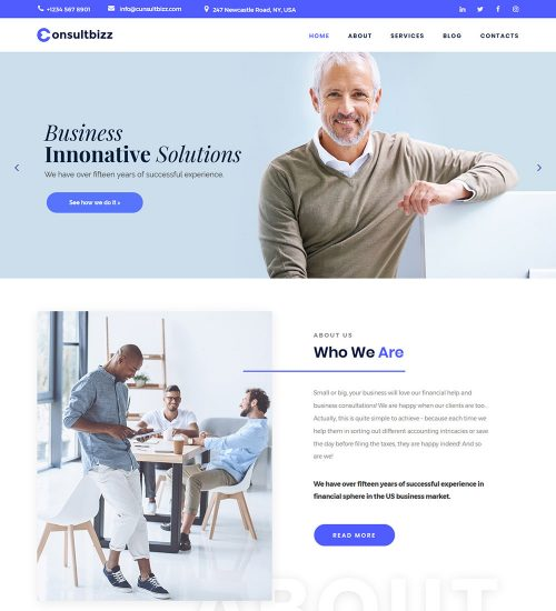 Consultbizz Finance and Business Consulting Ready Made WordPress Website