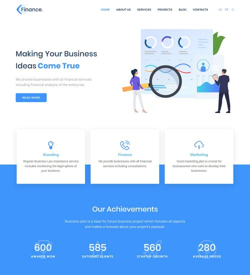 Finance Business and Finance Ready Made WordPress Website Theme