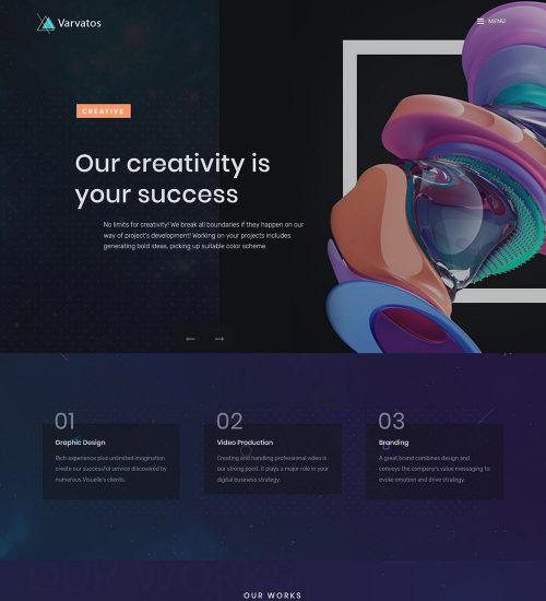 Varvatos Creative Web Agency Ready Made WordPress Website
