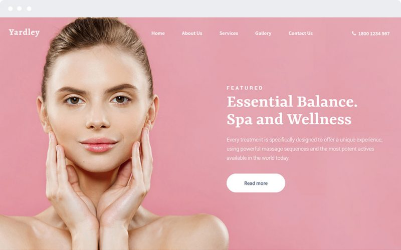 Yardley Hair Beauty Spa and Salon Ready Made WordPress Website