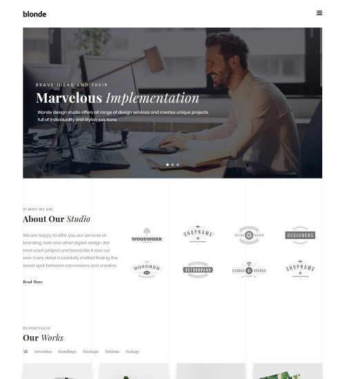 blonde Digital Branding and Freelancer Web Agency Ready Made WordPress Website