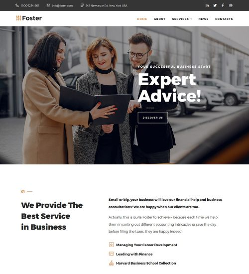 Foster Finance and Consulting Services Ready Made WordPress Website