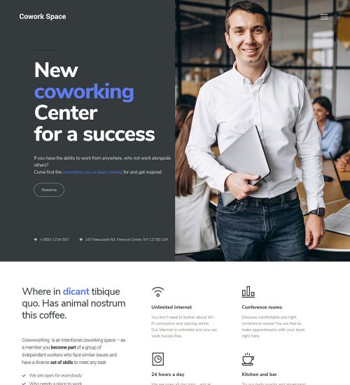 Coworkspace Coworking And Office Space Ready Made WordPress Website Theme