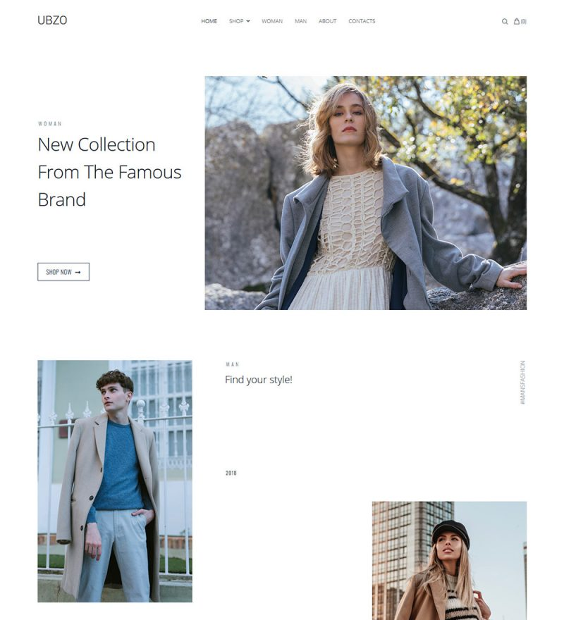 Ubzo Winter Clothes Online Store Ready Made Ecommerce Website Theme