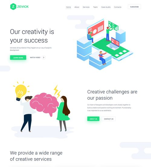 Zevick Web Agency Studio And Development Company Ready Made WordPress Website Theme