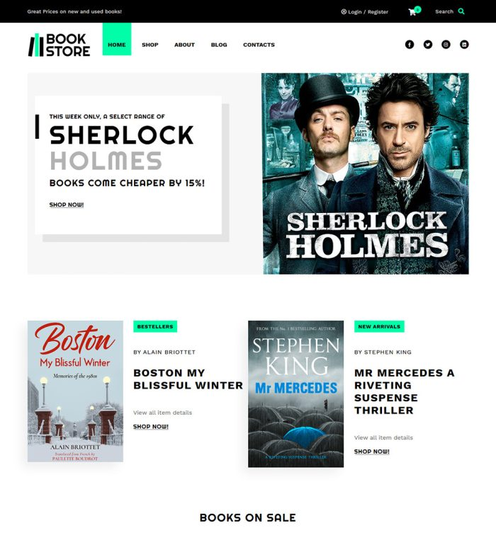 Book Shop Online Book Store Ready Made Woocommerce Website Theme