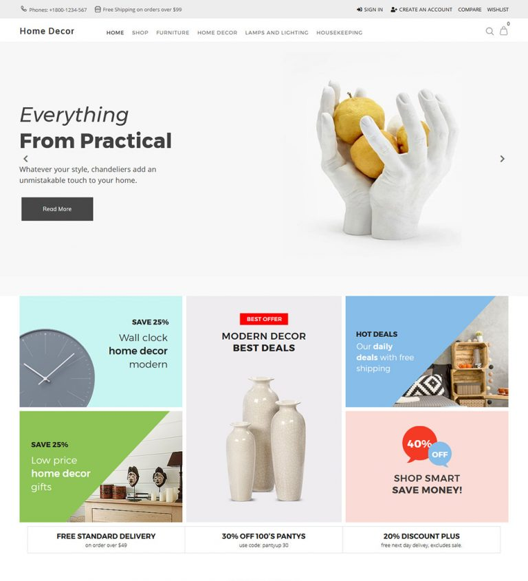 Home Decor Online Decorative Items Ecommerce Store Ready Made Woocommerce Website Theme