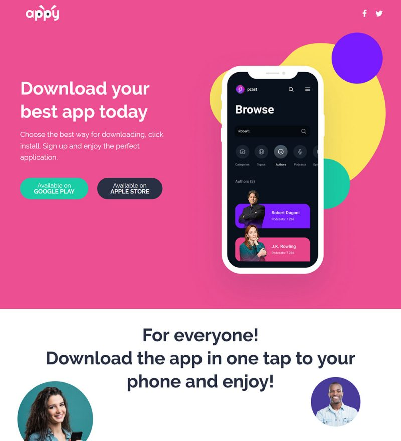 Appy Android And iOS App Landing Page Ready Made WordPress Website Theme