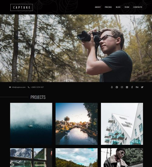 Capture Photography Portfolio Ready Made WordPress Website Theme