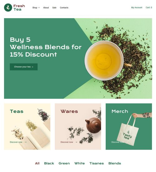 Fresh Tea Online eCommerce Store Ready Made WooCommerce Website Theme