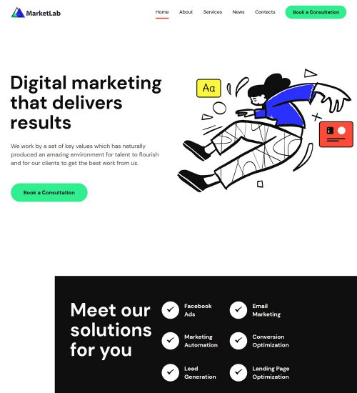MarketLab Seo And Digital Marketing Agency Ready Made WordPress Website Theme