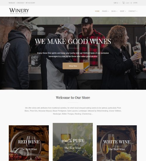 Winery Liquor Wine And Beer eCommerce Store Ready Made WooCommerce Website Theme