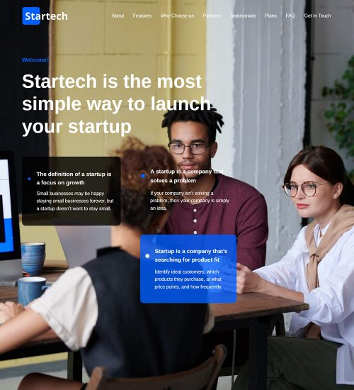 Startech Startup Company Ready Made WordPress Website Theme