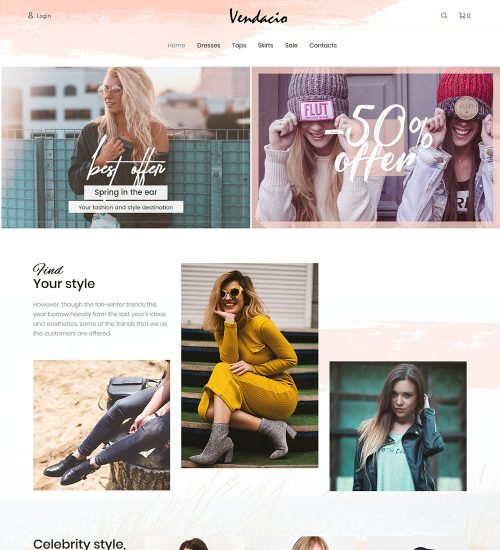 Vendacio Clothes For Men And Women Online eCommerce Store Ready Made WooCommerce Website Theme