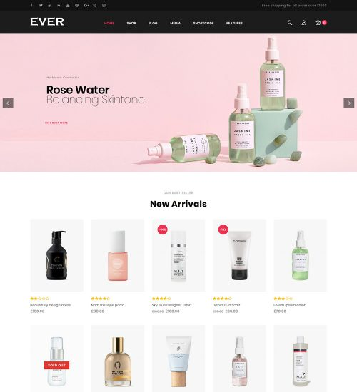 Ever Fashion Accessories eCommerce Store Ready Made WooCommerce Website Theme