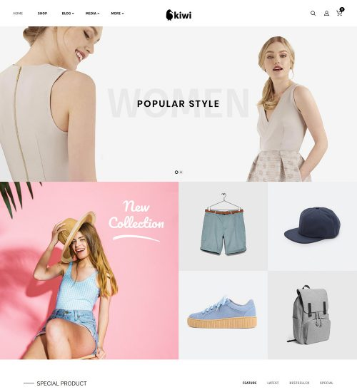 Kiwi Fashion Online eCommerce Store Ready Made WooCommerce Website Theme