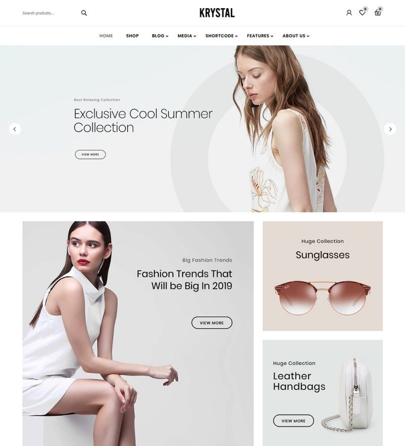 Krystal Fashion Online eCommerce Store Ready Made WooCommerce Website Theme