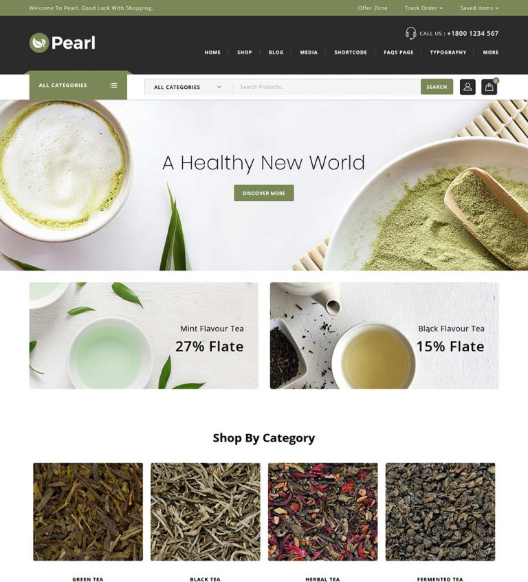Pearl Teahouse Online eCommerce Tea Store Ready To Go WooCommerce Website Theme