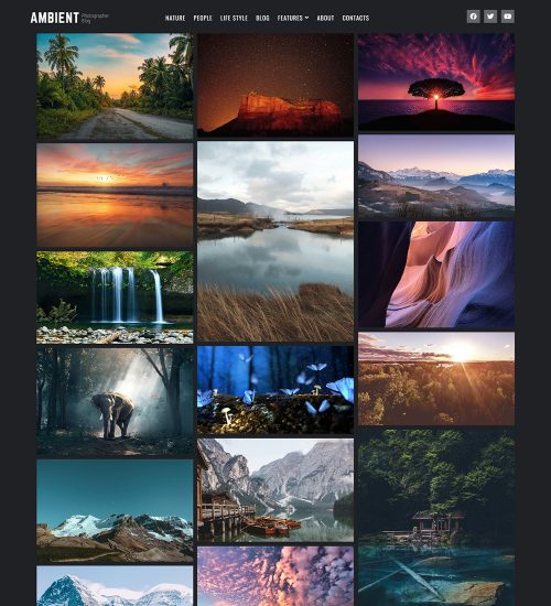 Ambient Photography Portfolio Blog And News Ready Made WordPress Website Theme