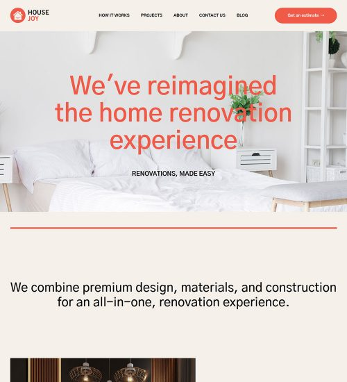 Housejoy Home Renovation Services Ready to Use WordPress Website Theme