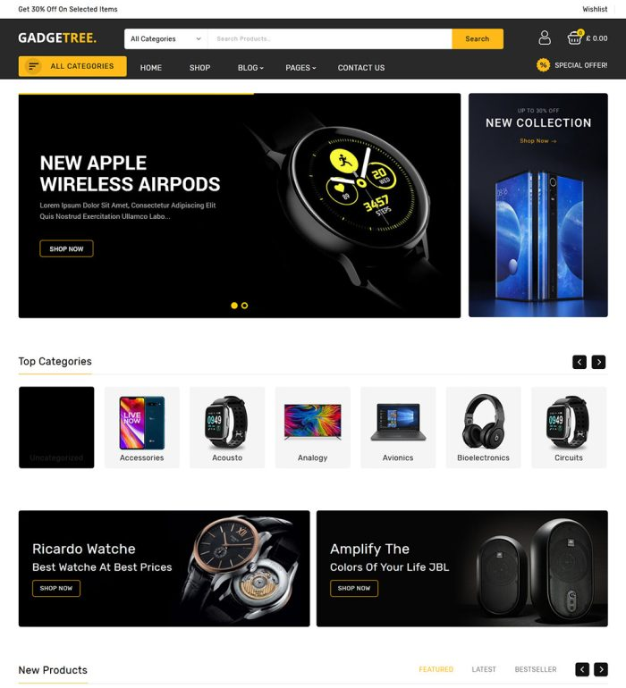 Gadgetree Electronic Gadgets Online eCommerce Store WooCommerce Theme
